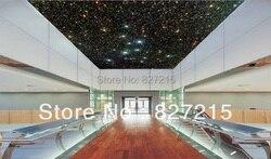 Material da decoração do teto U-8180 estrelas na noite escura pvc film teto para a bela decoração para casa