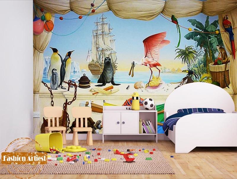 Custom Mediterranean Sea Vessel Wallpaper Mural Animal -7601