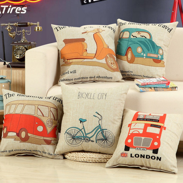 Retro Bohemia Linen Cotton Pillow Home Decor Cushion Vintage Bo Ha Sofa Car Seat Decorative Throw