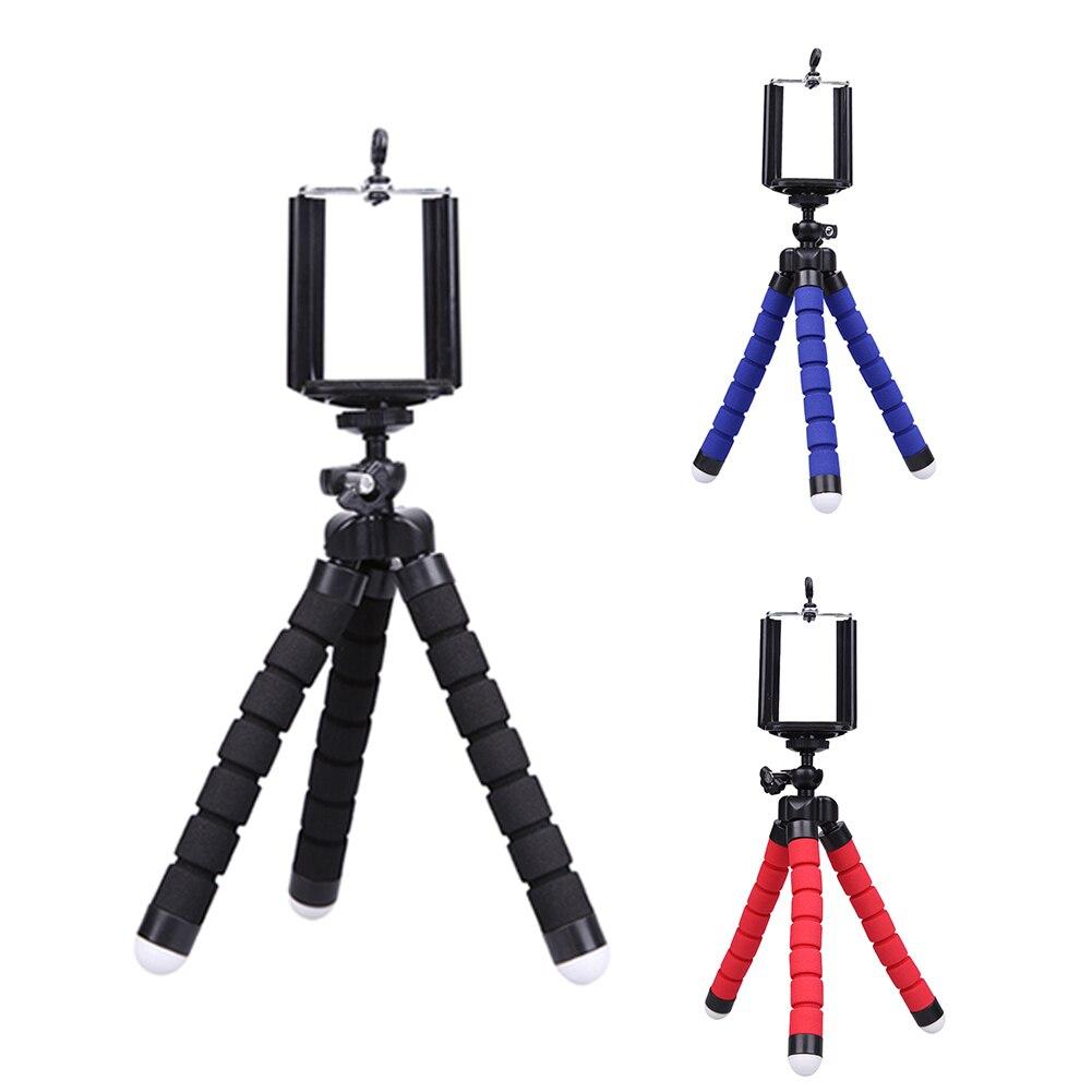 Mini font b Tripod b font Phone Holder Mount Selfie Portable Camera Tabletop Travel font b