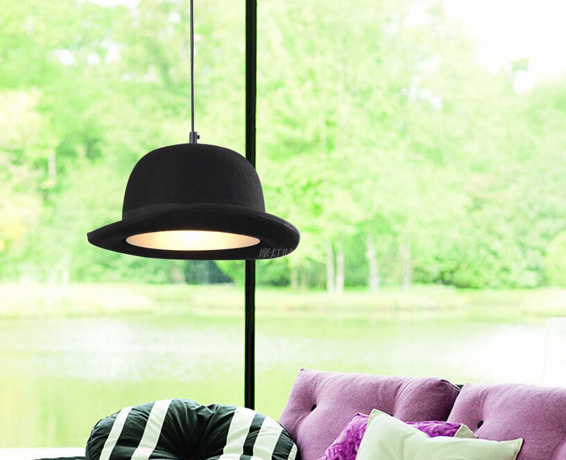 ccef9721f94 European Contemporary Modern Pendant Lamp Hanging Lights Bowler Tall Hat  Black Pendant Lights Hanging Aluminum LED Home Lighting-in Pendant Lights  from ...