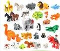 Лес Животных Серии Зоопарк Кирпич Набор Крупные Частицы Строительные Блоки Собрать Ребенка Просветить Игрушки, Совместимые с Duplo Legoe