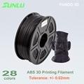 12 colores de 1 kg 1.75mm ABS filamento de impresión 3D con 0.02mm tolerancia y ninguna burbuja bueno para la impresión de piezas de la estructura