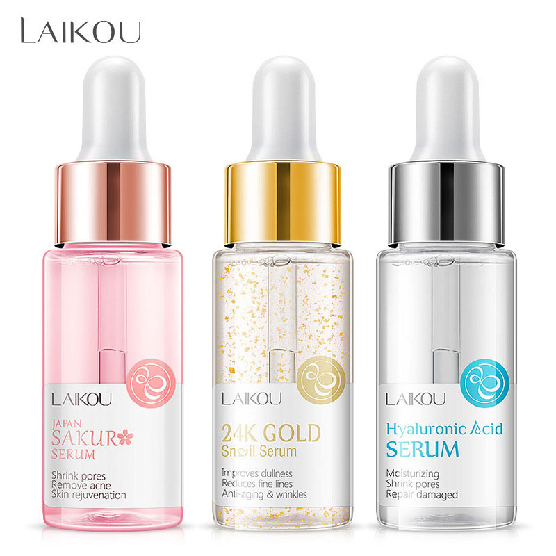 LAIKOU Makeup Base Moisturizing Essence 24k Gold Elixir Oil Control Professional Matte Serum Series Brand Foundation Primer 1pcs