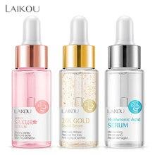 LAIKOU, Base de maquillaje, esencia hidratante, 24k, oro, Elixir, Control de aceite, Serie de suero mate profesional, Base de marca, Primer 1 Uds