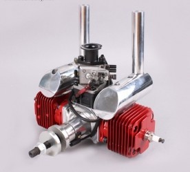 Cnc Crrc Gf55ii 55cc Twin Cylinder Gasoline Engine  Petrol Engine For Rc Airplane With Walbro