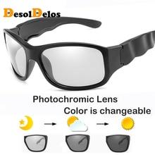 2019 Brand Design Photochromic Polarized Sunglasses Men Women Chameleon Discoloration Sun Glasses Square Driving Gafas Ciclismo
