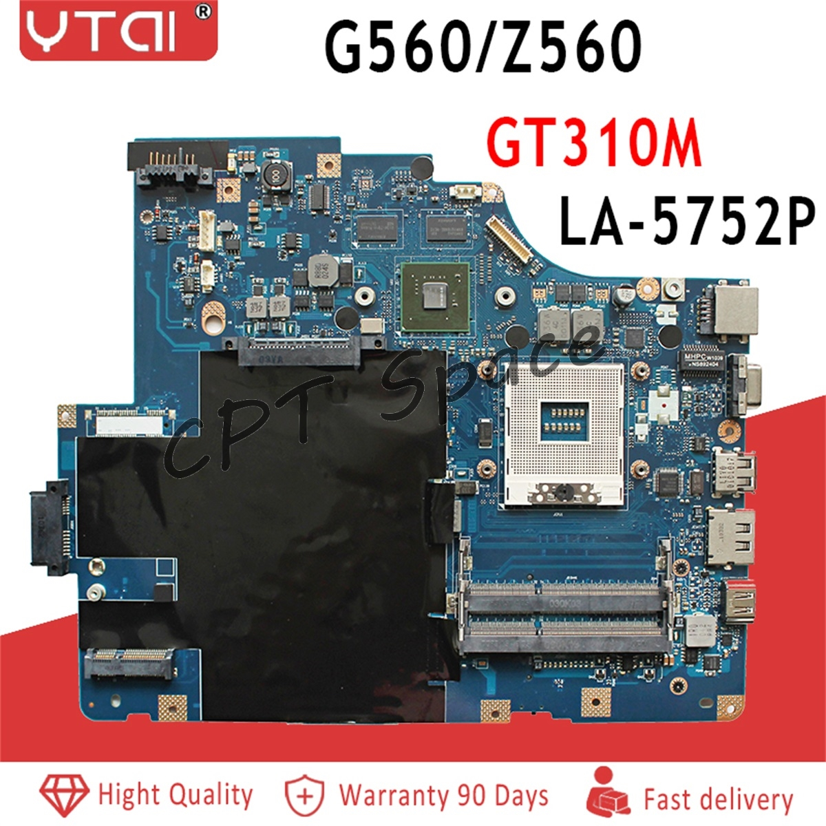 G560 Motherboard For Lenovo G560 Z560 Laptop Motherboard NIWE2 LA 5752P Rev 1 0 with GT310M