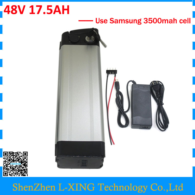 Free customs duty 48v 17.5ah electric bike battery 48 v 17ah battery pack 48v silver fish use samsung 3500mah cell 30A BMS free customs duty 36v 28ah battery pack 1500w 36 v lithium battery 28ah use samsung 3500mah cell 50a bms with 2a charger