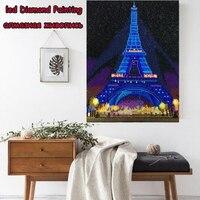 LED Light Full Round Drill 5D DIY Diamond Painting 3D Embroidery Cross Stitch Mosaic Decor Gift 30x40CM