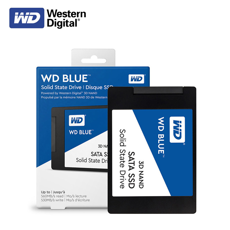 Disque dur d'origine WD Blue 3D NAND SSD 250 GB 500 GB 1 to SATA III disques durs internes Western Digital 2.5 pouces SSD