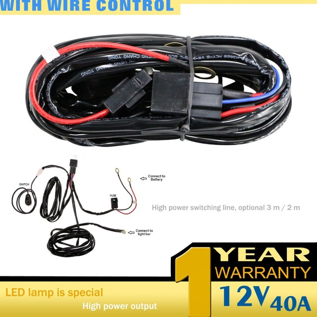 LED Light Bar Wiring Harness for OFF Road Jeep SUV Boat ATV 40 Amp Relay On_640x640 aliexpress com buy led light bar wiring harness for off road HID Flood Lights at crackthecode.co
