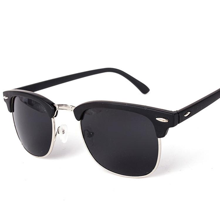 Gafas de Sol de Metal de Alta Calidad Medio Hombre Hombres Mujeres Marca Gafas Espejo Gafas de Sol Moda Gafas UV400