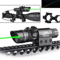 Adjustatble Tactical Green Beam Laser Sight With Rail Mount Laser Emitter for Rifle Gun HT3 0004G