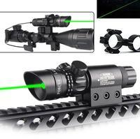 Adjustatble Tactical Green Beam Laser Sight With Rail Mount Laser Emitter for Rifle Gun HT3 0004G