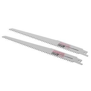 Image 3 - Yeni kalite 2 adet yüksek karbonlu çelik 6TPI 200mm pistonlu testere kesme bıçağı Metal ahşap