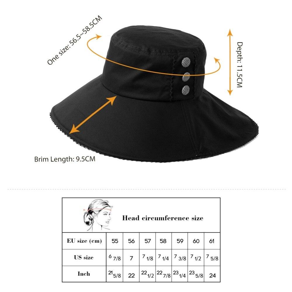 SIGGI Summer Beach Ponytail Sun Hats For Women Solid Cotton Button  Decoration Brim Soft Gorras Bucket Hats Female 99034-in Sun Hats from  Apparel Accessories ... 1d012cedc50d