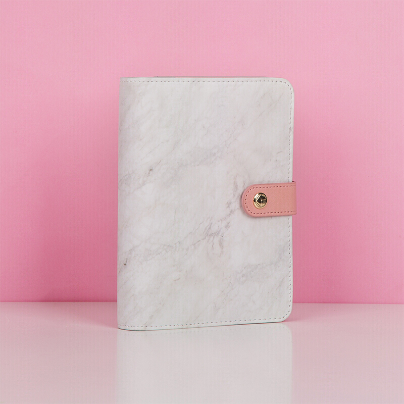 Marble A6 Binder Journal Loose Leaf Undated Monthly Weekly Daily Planner Organizer Planner Refillable Diary Spiral Binder Diary
