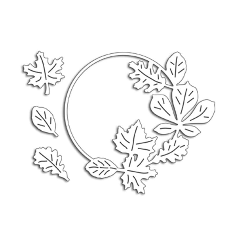 Circle Maple Leavers Metal Cutting Dies For DIY