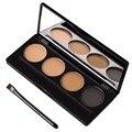 Impermeable Duradera Ceja En Polvo Paleta de Sombra de Ojo Conformación Kit con 4 Cejas Stencil Maquillaje Cosméticos