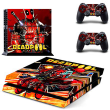 New Skin Decals of DeadPool Designed for PS4 Console and 2 Controllers Skin Stickers