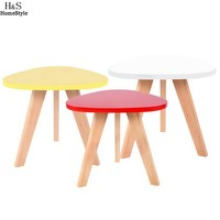 Homdox Mini Triangle Side Table Coffee Tea Table Living Room Balcony Table N30A