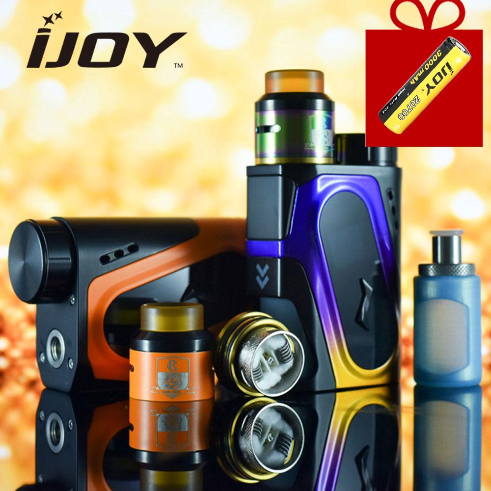 Dédouanement IJOY CAPO SRDA Squonker Kit w/100 W boîte MOD & 9ml COMBO SRDA atomiseur & 1x3000 mAh 20700 batterie E-cigarette Vape Kit