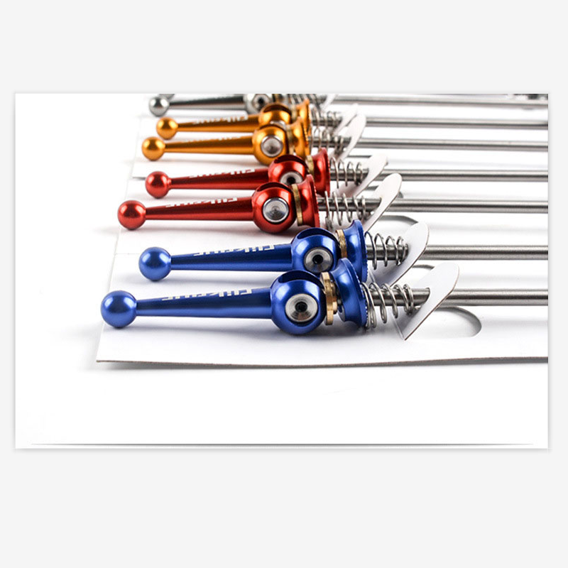 Free ship lightest Titanium skewers front 100mm , Rear 130/135mm suitable for both mountain bike quick release 49g/1Pair