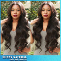 2016 New Arrival Glueless 150 Density Heat Resistant Fiber Hair Full Lace Wigs With Natural Looking Loose Wave Full Lace Wig