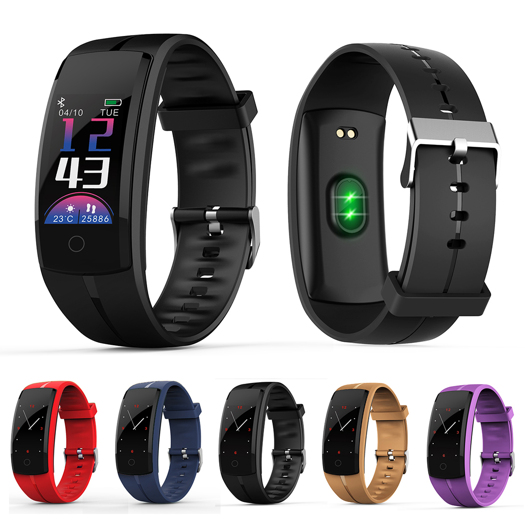 New Smart Wristband QS100 Multi-Sports Mode Blood Pressure Oxygen Monitoring Whatsapp Information Push Watch Color Screen 2018