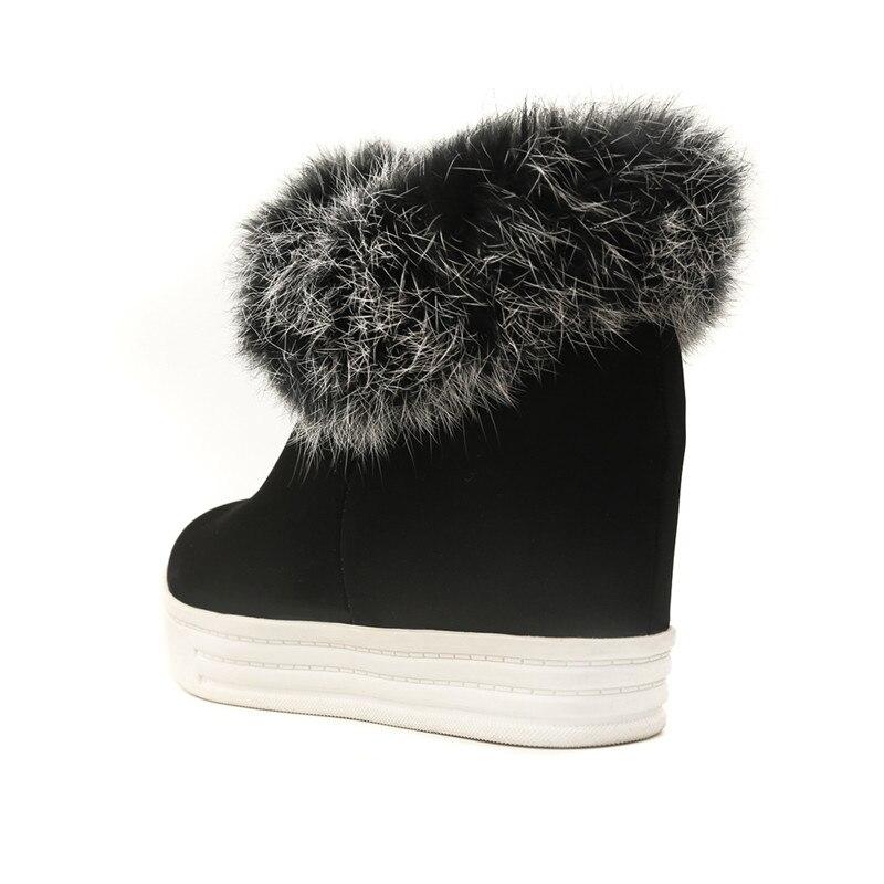 Invierno Caliente Punk Altura Add Señoras Ymechic Corto Aumento Zapatos Borla Nieve Fur Plataforma Mujeres Gruesos De 2018 Piel Botas Botines AwRRqE5