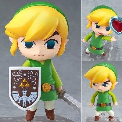 La leyenda de Zelda Nendoroid enlace el viento Waker aliento de la salvaje de la versión 413 de 553 de 733 PVC figura de acción