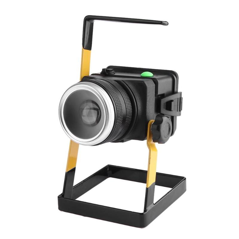 T6 LED Rotating Zoom Floodlight Spotlight Rechargeable Searchlight Long Range Night Light Waterproof Portable Outdoor Lantern