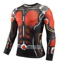 Зимние солдаты Cosplay Костюмы Мужчины с длинным рукавом Футболки Superhero 3D Adult Tee Halloween Ant Man Costumes Compression Male Top