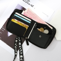 Lanyard Laser Wallet Female Short Paragraph Small Fresh Simple Personality Large Capacity Student Zipp