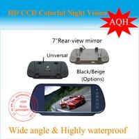 Free Shipping 7 Inch TFT Color Mirror LCD Car Rearview Screen Monitor Backup Camera