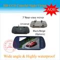 O envio gratuito de 7 polegada TFT colorido LCD espelho retrovisor do carro da tela Monitor de câmera de segurança