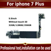 For iphone 7 Plus Motherboard with Touch ID,Original unlocked for iphone 7Plus Mainboard No iCloud,for iphone 7P Plate 3