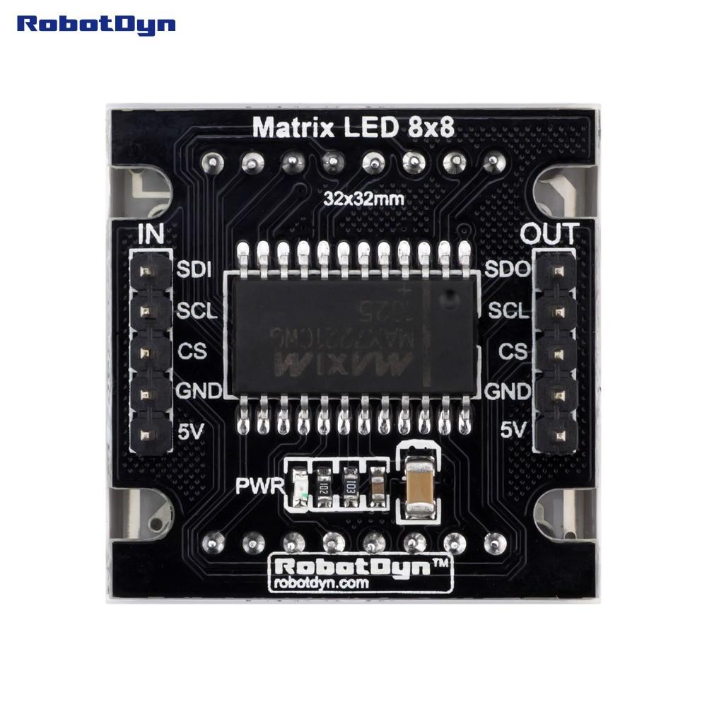 Matrix LED 8x8 module. WHITE color. 1.2 32x32mm. Driver - MAX7219/7221