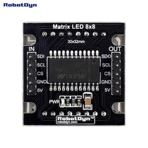 """Матричный светодиодный модуль 8x8. Белый цвет. 1,2 """"32x32 мм. Драйвер-MAX7219/7221"""