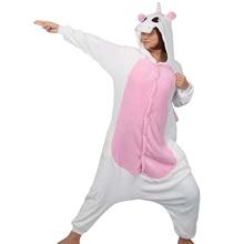 Единорог Комбинезоны Наборы для ухода за кожей животных мультфильм  фланелевые пижамы зимняя Для женщин взрослых пижамы хлопок те. cce84e4a7a628