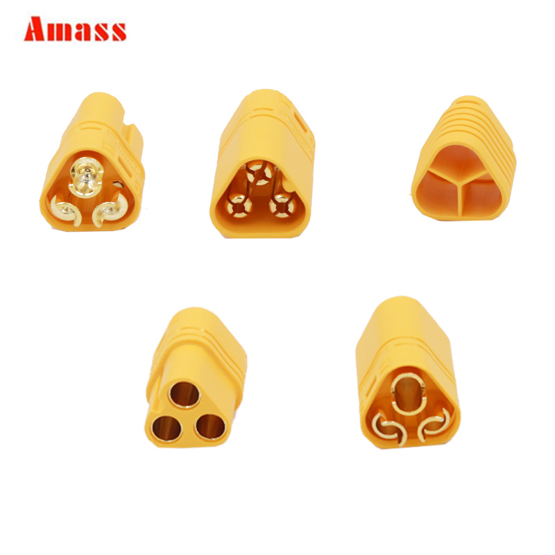 50pair lot Original Amass MT60 Motor Plug Connector for RC lipo battery RC Multicopter Quadcopter Airplane