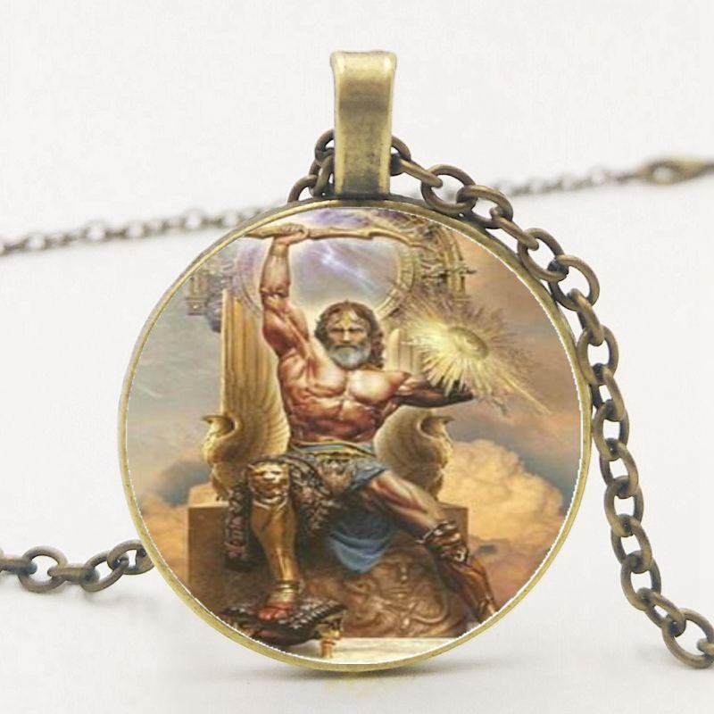 Greek Mythology Raytheon Zeus Pendant Necklace Glass Necklace Necklace Sweater Chain