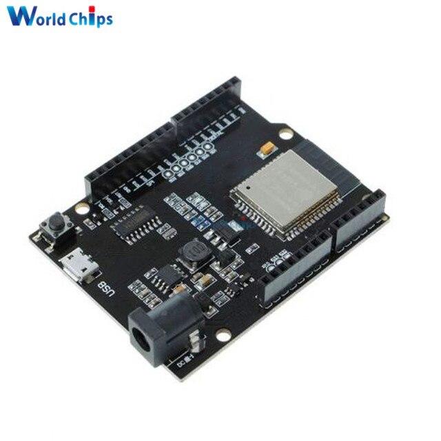 US $4 58 15% OFF|For Wemos D1 Mini For Arduino UNO WIFI Module R3 D1 R32  ESP32 WIFI Wireless Bluetooth Development Board CH340 4MB Memory-in