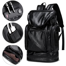 Pu Leather Anti Theft Laptop Backpack Bag 17 Inch 15.6'' Notebook Men Women Backpack Male Waterproof USB Outdoor Travel Bagpack mini backpack men anti theft bagpack 15 6 inch laptop digital camera backpack for teenager boy travel photography waterproof bag