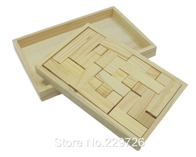 1413 12pcsset 2d3d Nature Color Wooden Tetris Tangram Puzzle Brainteaser Toy For Toddlers Free Shipping En Rompecabezas De Juguetes Y Aficiones