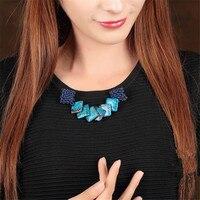 Yuan Shuo criação Original personalidade estilo étnico handmade Weave casaco camisola azul pedra pin corsage broche