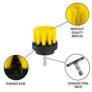 Image 4 - Perceuse électrique de nettoyage, pour cuir et plastique, intérieur de voiture, brosse de nettoyage, 3 pièces, 2/3, 5/4 pouces