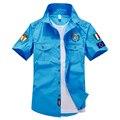 2016 Novo Design de Aeronautica Militares Pilotos de Avião Air Force One Homens Camisas de Marca de Alta Qualidade Homens Casuais Bordados Camisas