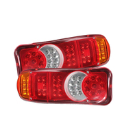 2 PCS Waterproof 12V 24 Truck LED Tail Light Rear Lamp Stop Reverse Safety Indicator Fog Lights for Trailer Truck Car Taillights